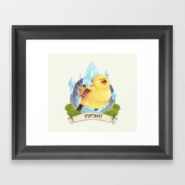 Fat Chocobo Framed Art Print