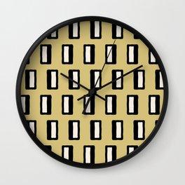 Chad Pattern Gold 2 Wall Clock
