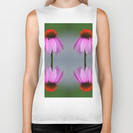 139 - Abstract Flowers Biker Tank
