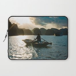 small boat in lagoon Laptop Sleeve