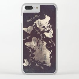 world map 18 Clear iPhone Case