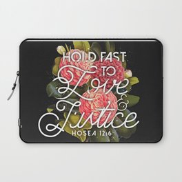 LOVE AND JUSTICE Laptop Sleeve