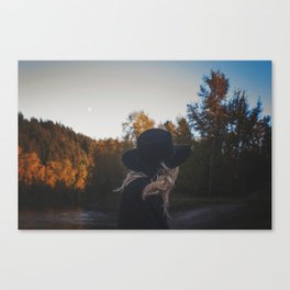 Look to the moon Canvas Print