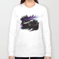 ferrari Long Sleeve T-shirts featuring New Ferrari by JT Digital Art