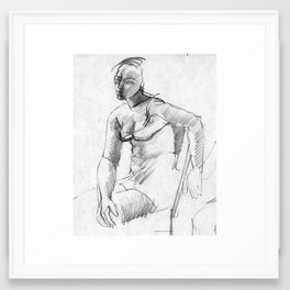 Dreamy Young Woman Framed Art Print