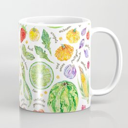 Summer Harvest Pattern Annotated Coffee Mug