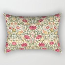 "William Morris ""Rose"" Rectangular Pillow"