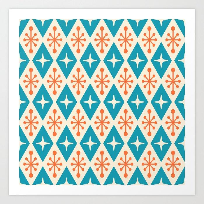 foto de Mid Century Modern Atomic Triangle Pattern 107 Art Print by ...