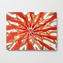 Pattern #2 - Orange Swirl Metal Print
