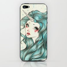 Unicorn Girl iPhone & iPod Skin