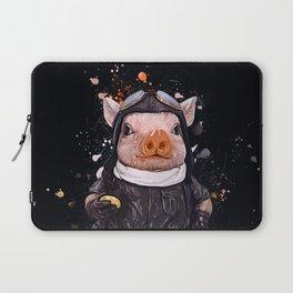 Steampunk Aviator Pig Laptop Sleeve