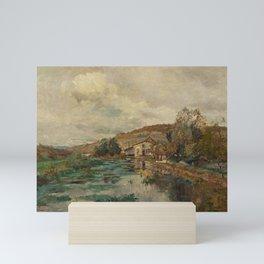 Edmond Marie Petitjean ( 1844 - 1925), Cottages at Escant Riviere Mini Art Print