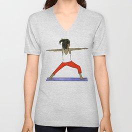 Yoga Folks - Warrior.   Unisex V-Neck