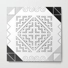 Tribal Hmong Design 2 Metal Print
