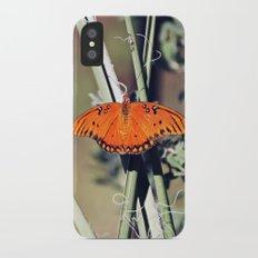Orange Butterfly Slim Case iPhone X
