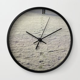 Trace in Snow Wall Clock