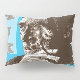 Charles BUKowski - POP-ART - sepia blue Pillow Sham
