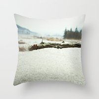 woody Throw Pillows featuring woody by cOnNymArshAuS