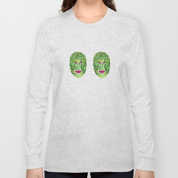 green visage Long Sleeve T-shirt