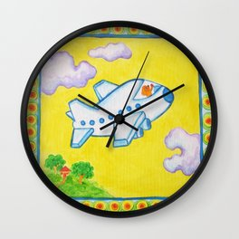 The Happiest Airplane Wall Clock