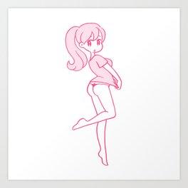 G-string girl 3 Art Print
