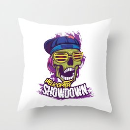 Looking For A Unique Detailed Tee For Yourself?Here's An Awesome T-shirt For You Helicopter Showdown Throw Pillow