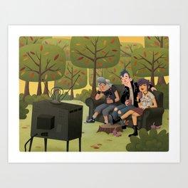 T.V. Party Art Print