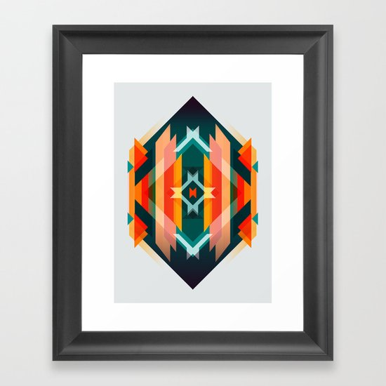 Broken Diamond - Incalescence Framed Art Print