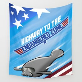 Highway To The Endangered Zone Wall Tapestry