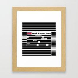 North Korea News Paper Framed Art Print