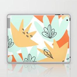 Terra Cotta and Teal Geometry Laptop & iPad Skin