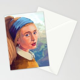 Girl with Pearl - Modern - Gaze Stationery Cards