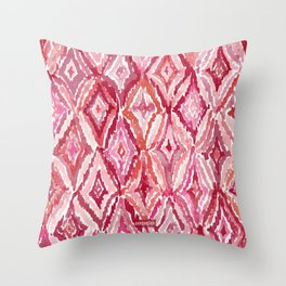 Red BRIGHT LIKE A DIAMOND Moroccan Print Throw Pillow