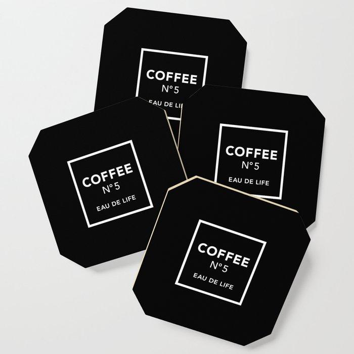 Black Coffee No5 Coaster