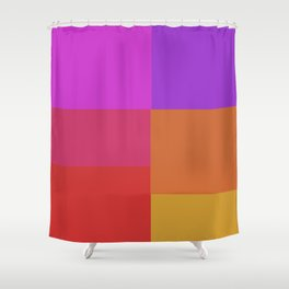 Fluro color squares Shower Curtain