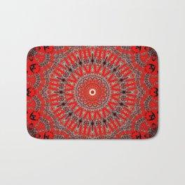 Rich Red Vintage Mandala Badematte