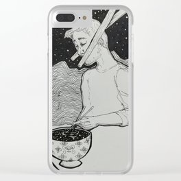 Interdimensional Chopsticks Clear iPhone Case