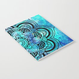 Galaxy Mandala Aqua Indigo Notebook