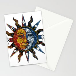 Celestial Mosaic Sun and Moon Stationery Cards