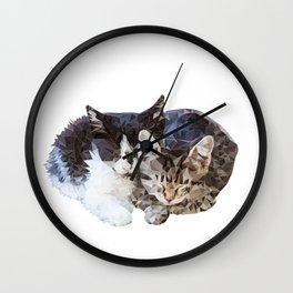 Sleeping Kittens Wall Clock