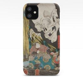 Takiyasha the Witch and the Skeleton Spectre, Utagawa Kuniyoshi, 1844 iPhone Case
