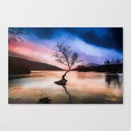 Llanberis Lake Tree Canvas Print