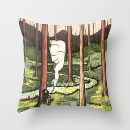 Wizards Valley Throw Pillow