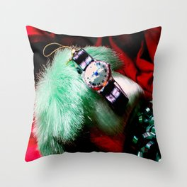Time For Red And Green Stuff Throw Pillow