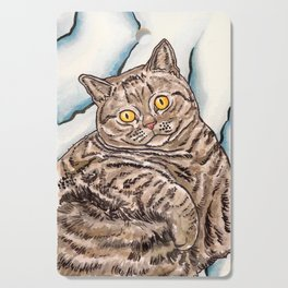 Grey Cat Cutting Board