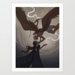 Eros and Psyche Art Print