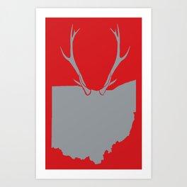 Ohio Bucks Art Print