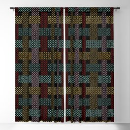 Crossstitch Weavings Blackout Curtain