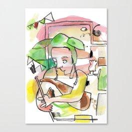 Uilleann Pipes Irish Trad Music Canvas Print