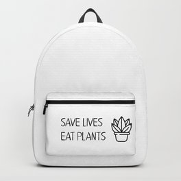 Save lives eat plants Backpack